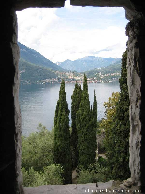 vew from castello di Vezio