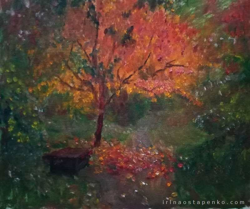 sakura in the autumn